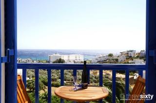 accommodation galini bungalows balcony