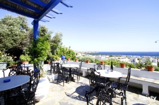 location galini bungalows tinos view